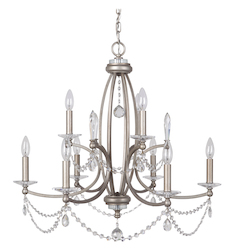 9 Light Chandelier in Athenian Obol Finish - 372089