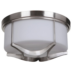 3 Light Flush Mount in Satin Nickel Finish - 372095