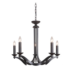 5 Light Chandelier in Espresso Finish - 372097
