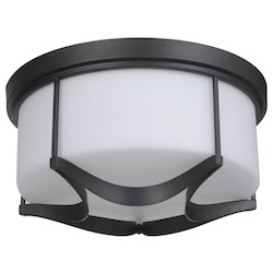 3 Light Flushmount in Espresso Finish - 372100