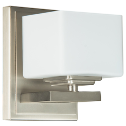 1 Light Wall Sconce in Brushed Nickel Finish - 372102