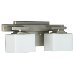 2 Light Bath Vanity with Brushed Polished Nickel Finish - 372103