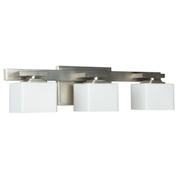 3 Light Bath Vanity with Brushed Polished Nickel Finish - 372104