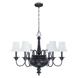 6 Light Chandelier in Legacy Brass Finish - 372107