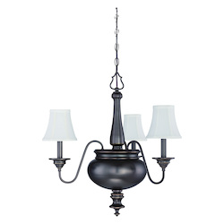 3 Light Chandelier in Legacy Brass Finish - 372109