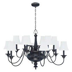 12 Light Chandelier in Legacy Brass Finish - 372110