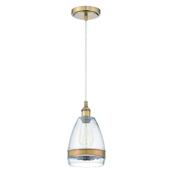 1 Light Mini Pendant with Antique Copper Finish - 372127