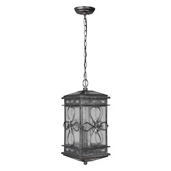 3 Light Pendant with Dark Granite Finish - 372155