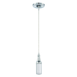 LED Mini Pendant w White Frosted & Clear Glass - 372206