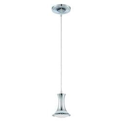 LED Mini Pendant w White Frosted & Clear Glass - 372207