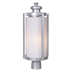 3 Light Outdoor Post Lantern with Chromite Finish - 372221