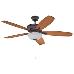 Oiled Bronze Ceiling Fan with Blades - 372225