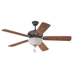 Ceiling Fan with Blades in Aged Bronze Finish - 372226