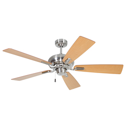 Polished Nickel Ceiling Fan with Blades - 372231