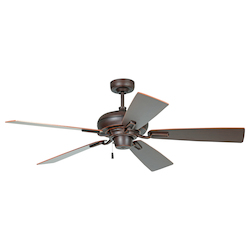 Ceiling Fan with Blades in Oiled Bronze Gilded Finish - 372232