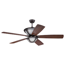 Mocha Bronze Silver Ceiling Fan  - 372254