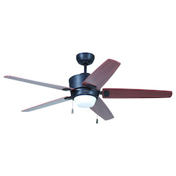 Aged Bronze Ceiling Fan with Blades & Light Kit - 372256
