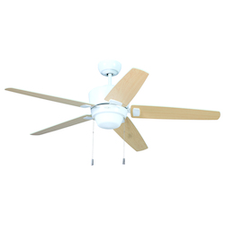 White Ceiling Fan with Blades & Light Kit - 372257