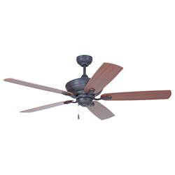 Ceiling Fan with Blades in Aged Bronze Finish - 372258