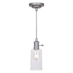 1 Light Mini Pendant with Clear Glass - 372265