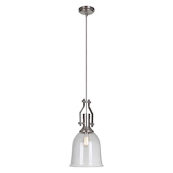 1 Light Mini Pendant with Clear Glass Shade - 372280