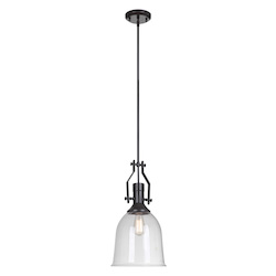 1 Light Mini Pendant with Clear Glass Shade - 372281
