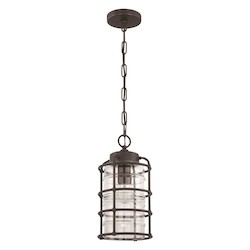 1 Light Pendant in Aged Bronze Finish - 372284