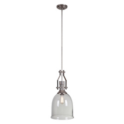 1 Light Mini Pendant with Clear Glass Shade - 372303