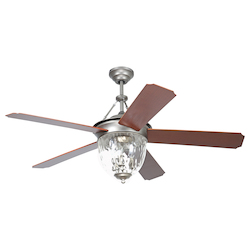52 Ceiling Fan with Light Kit and Pewter Finish - 372312