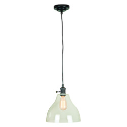 1 Light Mini Pendant with Cord and Glass Shade - 372336