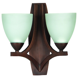 2 Light Wall Sconce with Oiled Bronze Finish - 372356