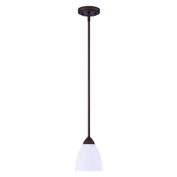1 Light Mini Pendant with Old Bronze Finish - 372357