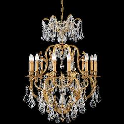 Twelve Light French Gold Up Chandelier