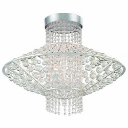 Four Light Semi Flush Light With Catalina Silver Finish