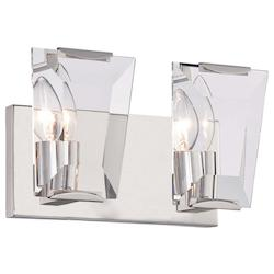 Two Light Bath Vanity With Polished Nickel Finish