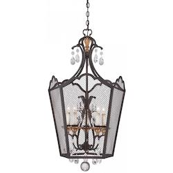 5 Light Foyer Pendant With French Bronze Finish