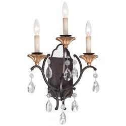 3 Light Wall Sconce With French Bronze Finish