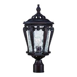 Stratford Collection Post-Mount 1-Light Outdoor Architectural Bronze Light Fixtu