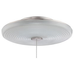 Low Profile Led Bowl Light Kit With Ribbed Cased Frost White