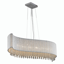 2090 Influx Collection Hanging Fixture L44In W14In H10In Lt:8 Chrome Finish (Roy