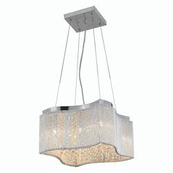 2091 Influx Collection Hanging Fixture L16In W16In H8In Lt:8 Chrome Finish (Roya