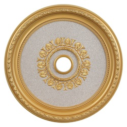 Gold 32in. Wide Chandelier Medallion from the Medallion Collection