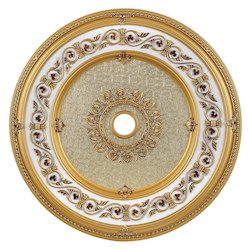 French Gold 43in. Wide Chandelier Medallion from the Medallion Collection