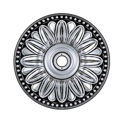 Pewter 16in. Wide Chandelier Medallion from the Medallion Collection