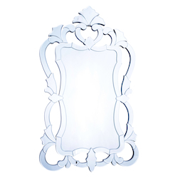 Clear Mirror 26in. Wide Mirror from the Venetian Collection