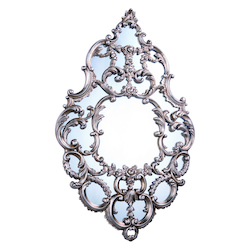 Antique Silver Leaf 32in. Wide Mirror from the Antique Collection
