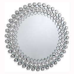 Clear Mirror 39in. Wide Mirror from the Modern Collection