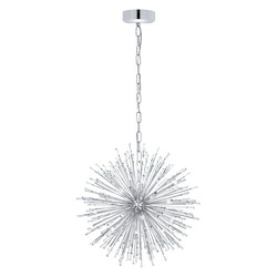 Silver 26 3/4in. Wide 21 Light Pendant from the Vivaldo Collection