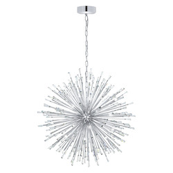 Silver 40in. Wide 32 Light Pendant from the Vivaldo Collection