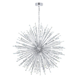 Silver 56in. Wide 50 Light Pendant from the Vivaldo Collection